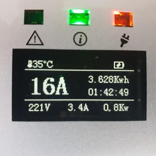 3-EV EVSE Type2 (max. 16A) Cavo di Ricarica per Auto Elettriche