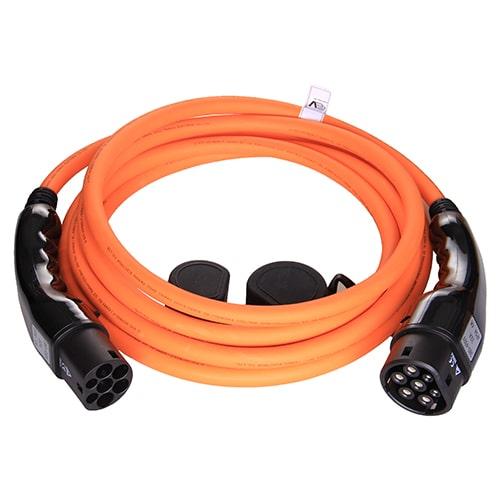 1-EV Type2 -> Type2 orange (3x32A) Cavo di Ricarica per Auto Elettriche